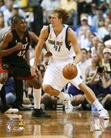 Dirk Nowitzki - 2006 Finals / Game 2 Dribble (#10) Framed Print