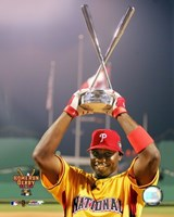 Ryan Howard - 2006 Home Run Derby / With Trophy Fine Art Print