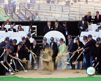 New Yankee Stadium - 2006 Ground Breaking Ceremony Fine Art Print