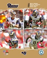 "2006 - Rams ""Big 4"" Fine Art Print"