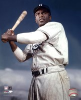 Jackie Robinson - 1953 Posed Batting Fine Art Print