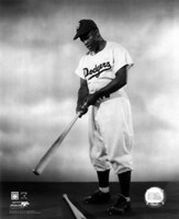 1948 - Jackie Robinson Pose With Bat Fine Art Print