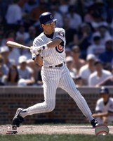 Ryne Sandberg -  1996 Batting Action Fine Art Print