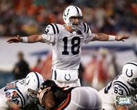 Peyton Manning Super Bowl XLI Calling Play (#13) Fine Art Print