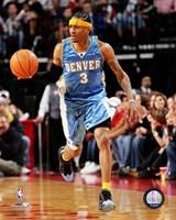 Allen Iverson - '06 / '07 blue jersey Framed Print
