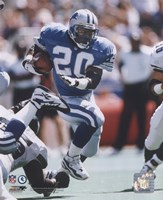 Barry Sanders - 1996 Action Fine Art Print