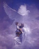 Christ And Child Fine Art Print