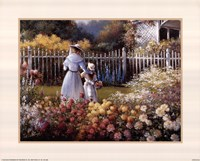 Victorian Garden Framed Print