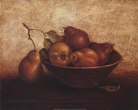 Pears In Bowl Fine Art Print
