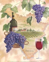 Toscana - Bella Vino Framed Print