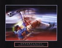 Opportunity-Soccer Framed Print