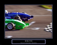 Drive-Race Car Fine Art Print