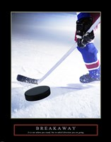Breakaway-Slap Shot Fine Art Print