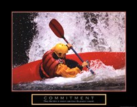 Commitment - Kayak Fine Art Print