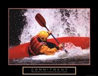 Commitment - Kayak Fine Art Print