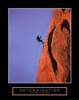 Determination - Climber Framed Print