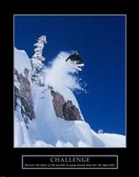 Challenge - Skier Framed Print
