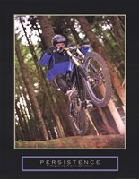 Persistence - Dirt Bike Framed Print