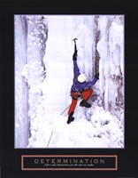 Determination - Ice Climber Fine Art Print
