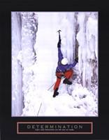 Determination - Ice Climber Framed Print