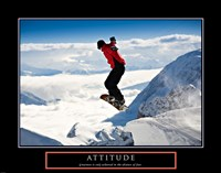 Attitude - Snow Boarder Framed Print