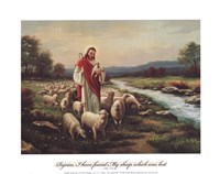Jesus The Shepherd (Verse) Fine Art Print