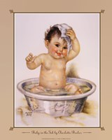 Baby In The Tub Framed Print