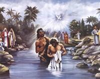White Baptism Framed Print