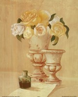 White Flowers In Vase Fine Art Print