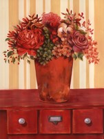 Flowers In Vase On Dresser Fine Art Print