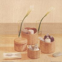 Soaps Towels In Baskets Fine Art Print