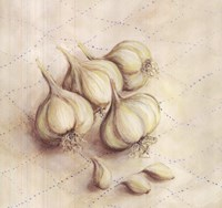 Garlic - square Fine Art Print