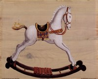 White Rocking Horse Fine Art Print