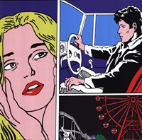 Man, Woman, Ferris Wheel Fine Art Print
