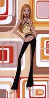 Girl With Yellow Halter Top Fine Art Print