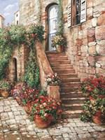 Stone Stairway, Perugia Framed Print