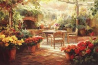 Shaded Patio Fine Art Print