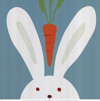 Peek-A-Boo I Rabbit Fine Art Print