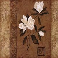 Magnolia Stripe II Framed Print