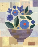 Blue Flower Vase Fine Art Print