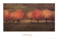 Red Trees II Fine Art Print
