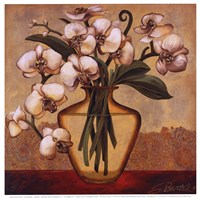 White Autumn Orchids Fine Art Print