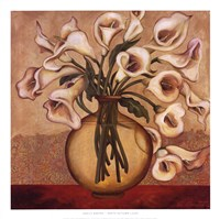 White Autumn Lilies Fine Art Print