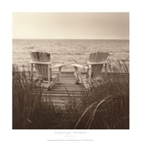Beach Chairs Fine Art Print