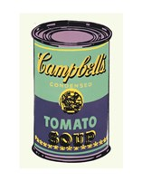 Campbell's Soup Can, 1965 (green & purple) Framed Print