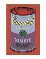 Campbell's Soup Can, 1965 (blue & purple) Framed Print