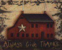 Always GiveThanks Fine Art Print