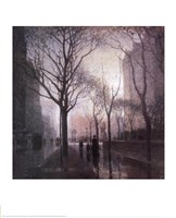Plaza After the Rain Fine Art Print