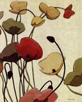 Pavots Ondule II Fine Art Print