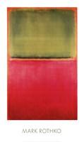 Green, Red, on Orange Fine Art Print